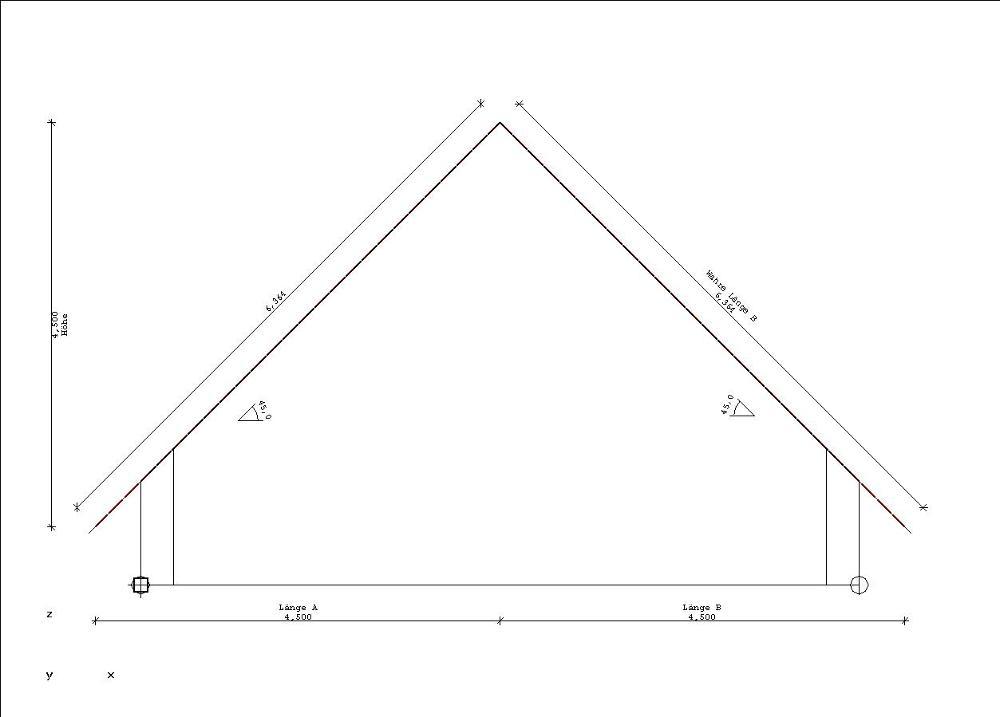 dachausmittlung in der zimmerei. Black Bedroom Furniture Sets. Home Design Ideas