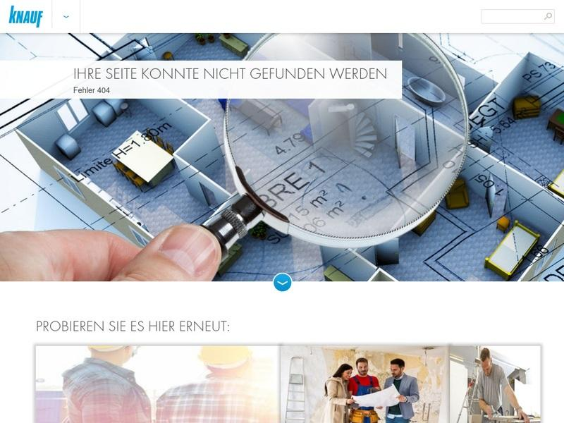 Screenshot von http://www.knauf.de/content/de/index.html